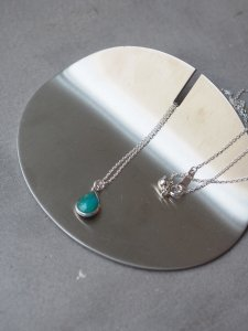 Turquoise Necklace/drop/silver