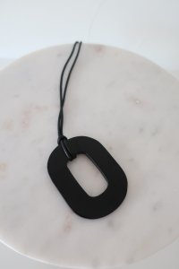 Buffalo Horn×Lacquer/black necklace