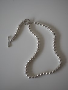 Silver Ball Chain Necklace/6mm/38cm
