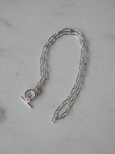 Lien  chain short necklace/silver