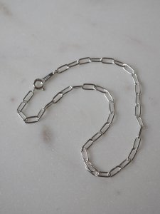 Lien  chain anklet/silver