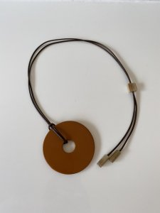 ◎予約商品◎Buffalo Horn×Lacquer/camel necklace