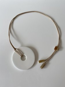 ◎予約商品◎Buffalo Horn×Lacquer/milk necklace