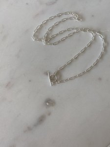 Lien Chain Long necklace/silver/50cm