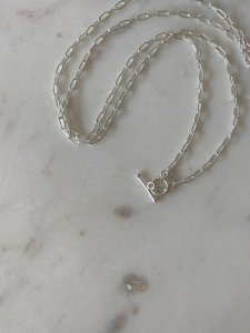 Lien Chain Long necklace/silver/75cm