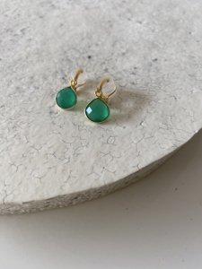 【Green Onyx Earrings】