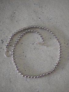 Silver Ball Chain Necklace/6mm/38cm/ロジウム