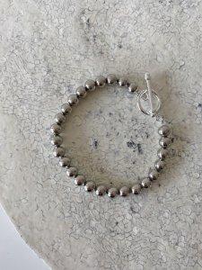 Silver Ball Bracelet/ロジウム加工