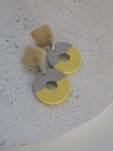 Buffalo Horn×Lacquer Pierce/yellow×gray
