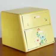 【★3】ランズバーグ 2段式ブレッドボックス 黄