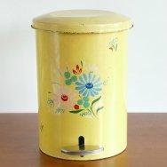 【★3】ランズバーグ ペダル式ゴミ箱 黄