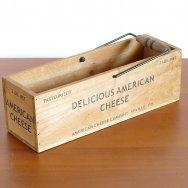 【★4】アメリカンチーズカンパニー 木製ボックス