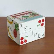 【★3】ヴィンテージ レシピボックス&カード