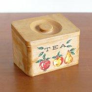 【★3】木製 紅茶入れ