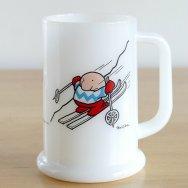 【★4】ヴィンテージ ジギー スキーヤー マグジョッキ