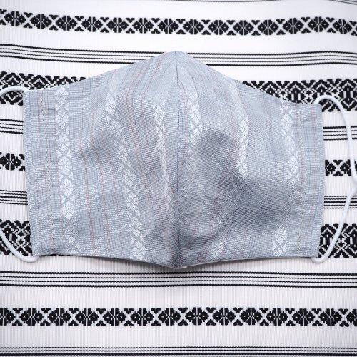 博多織マスク(市松献上柄 青)