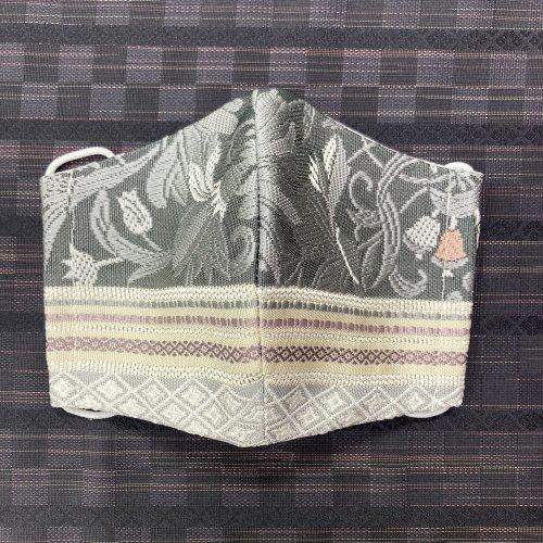 博多織マスク(隆 唐草華 横縞)
