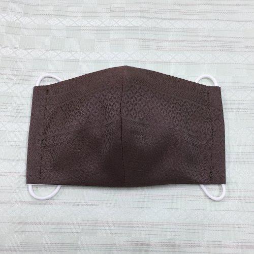 博多織マスク(献上柄 横 茶系 )