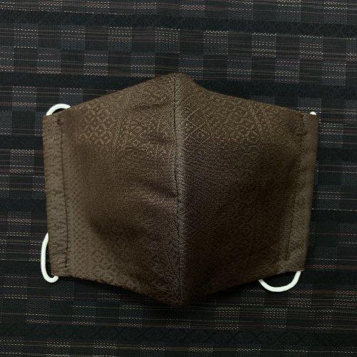 博多織マスク(経献上 茶)