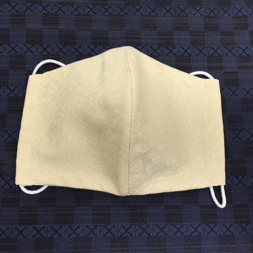 博多織マスク(唐草柄 黄色系)