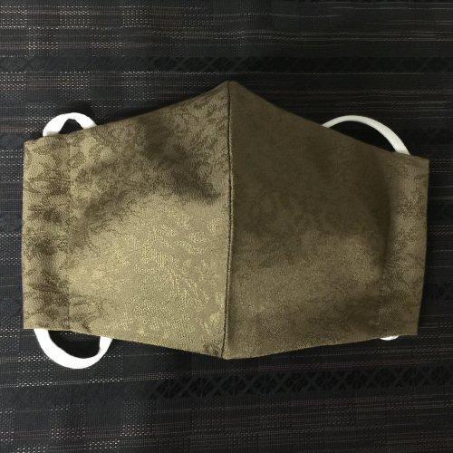 博多織マスク(唐草柄 緑系)