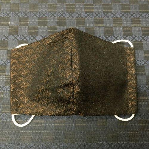 博多織マスク(切子 茶系)