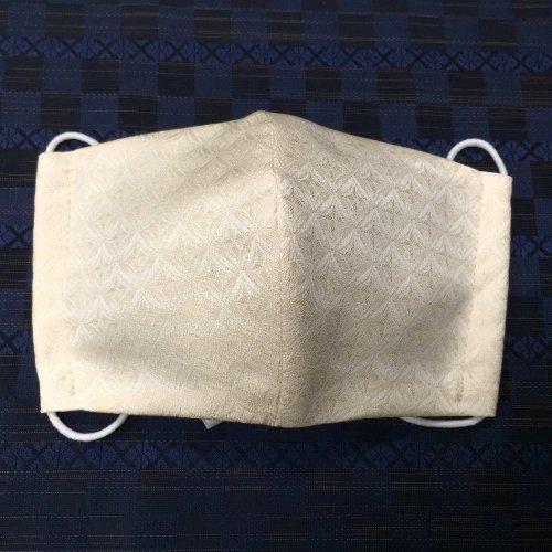 博多織マスク(切子 ベージュ)