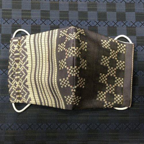 博多織マスク(市松献上 紫系)