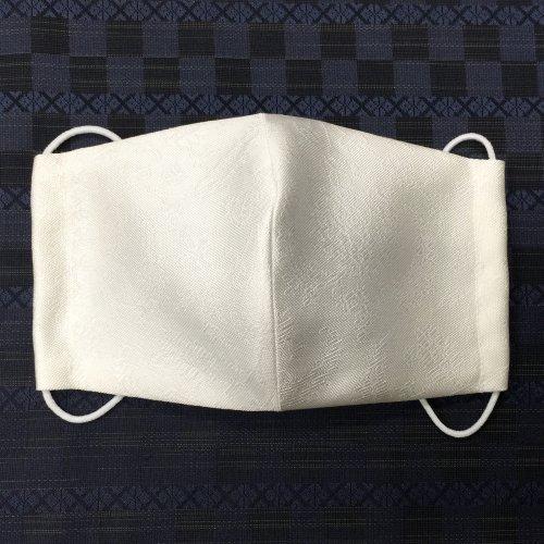 博多織マスク(更紗 白系)