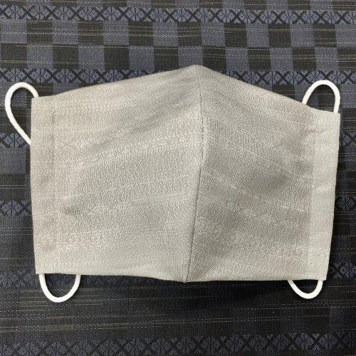 博多織マスク(変り横献上 薄ネズ)