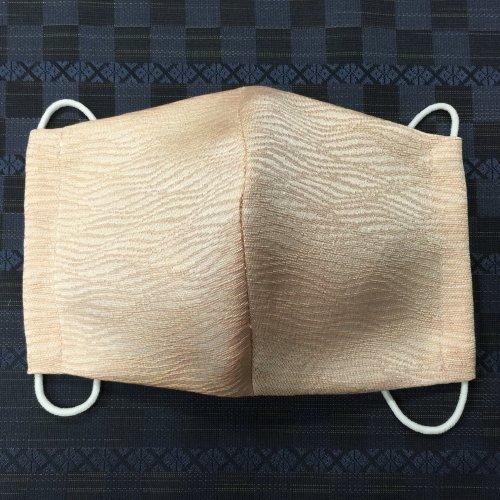 博多織マスク(波 ピンク系)