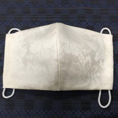 博多織マスク(アラベスク 白系)