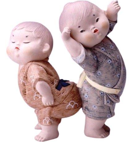 博多人形 尻ずもう