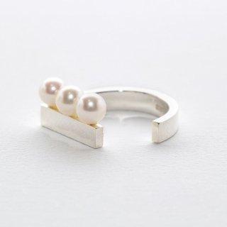 un,deux,trois [troix]  pearl rings SV925