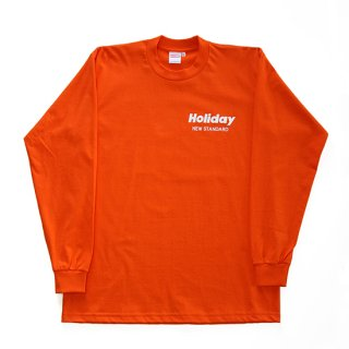HOLIDAY L/S TEE ORANGE