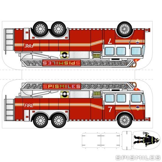 Макет пожарных машин своими руками