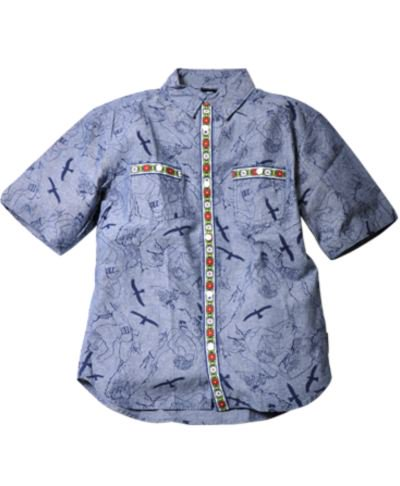 WILFTHNGS ■CLIMBER PRINT CHAMBRAY SHIRT  ■送料無料