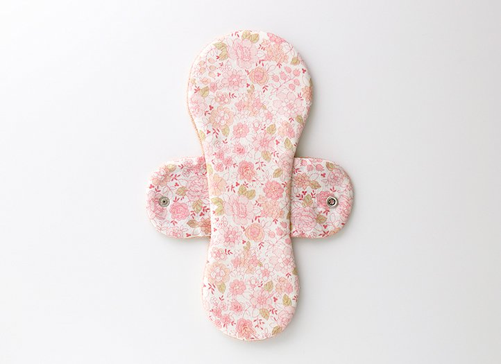 ヒエトリパット「椿オイル生地」防水布入り 大きめサイズ (ピンク)