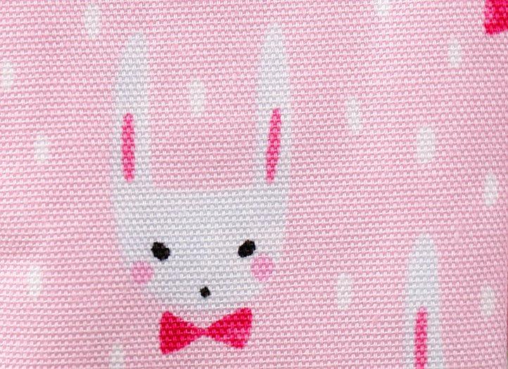 ヒエトリパット「耳ながうさぎ(ピンク・ホワイト)」2枚セット