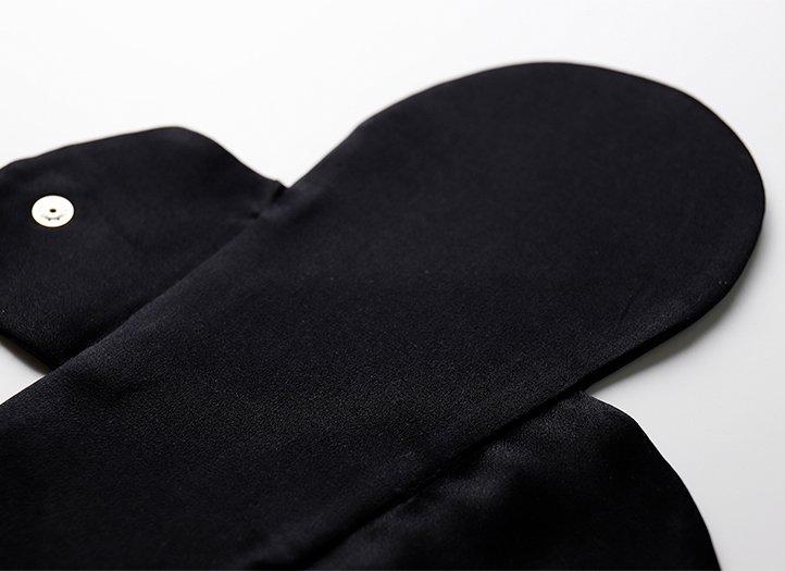 ヒエトリパット「シルク100%両面使用可(ブラック)」【お試し価格】