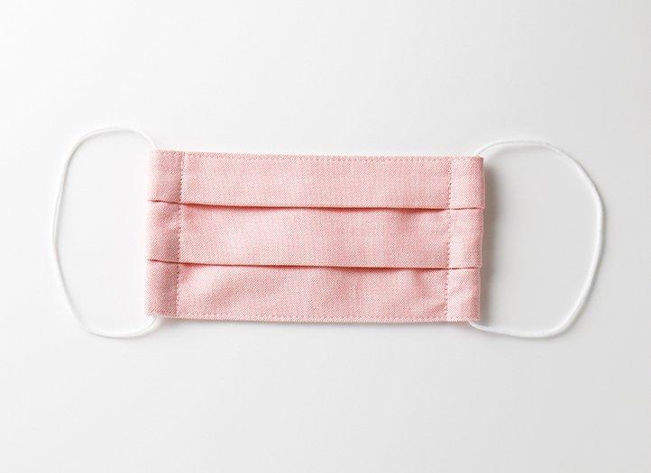 プリーツマスク「ピンク」