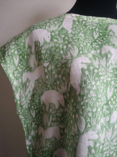 旅するワンピース「KAYO AOYAMA horse and tulip(グリーン)」ご注文から1週間ほどでお届け