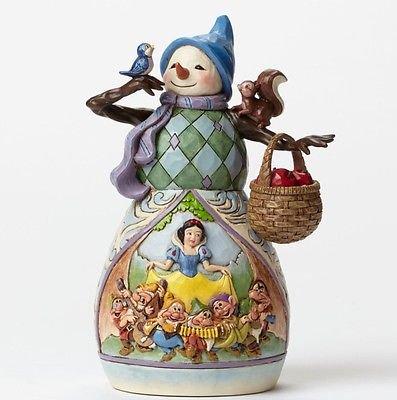 ディズニートラディション Jim Shore ジムショア 白雪姫【Christmas Snow White's  Snowman】