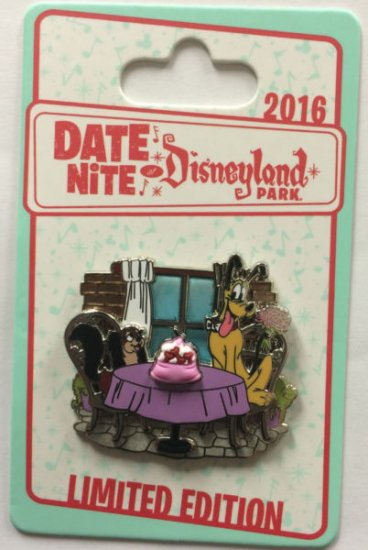 Disneyland Park 2016 DATE NITE Pluto and Fifi Dining LE Disney Pin