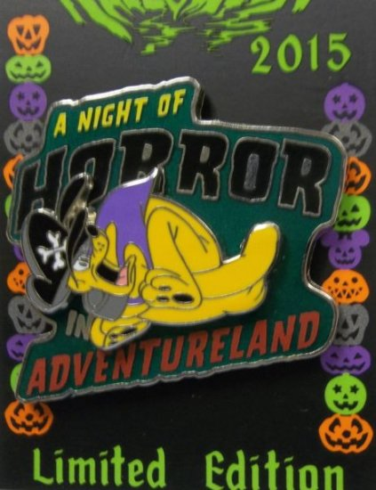 NEW Disney Parks Halloween 2015 PLUTO A Night of Horror Adventureland LE Pin