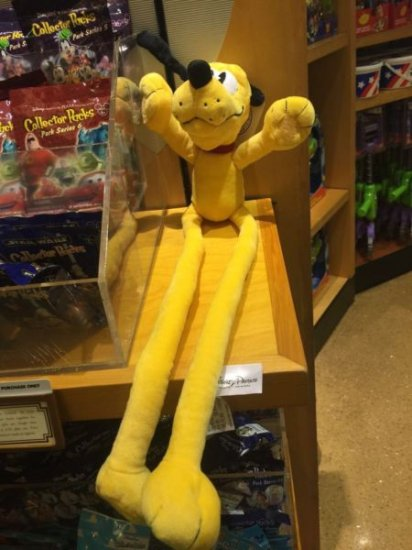 "disney parks 24"" pluto long arm leg plush toy new with tags"