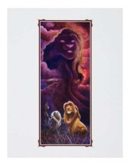 Disney Parks Lion King Reflections Deluxe Print by Darren Wilson New