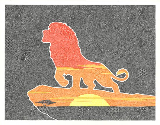 Disney WonderGround Gallery Pride Rock The Lion King Postcard Gregg Visintainer