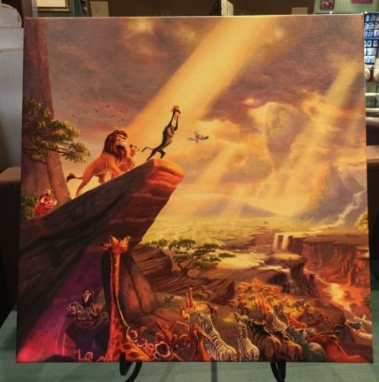 Disney Parks The Lion King Giclee on Canvas by Thomas Kinkade Studios New