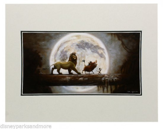 Disney Parks The Lion King: Hakuna Matata Deluxe Print by Darren Wilson NEW